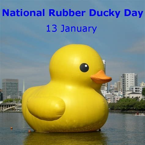 national rubber st rollcall for 13 january national rubber ducky day