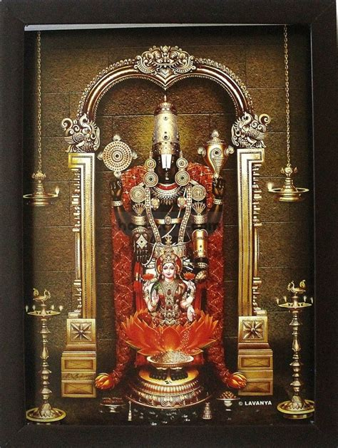 lord venkateswara photo frames with lights and music lord venkateswara with sri lakshmi frame photos
