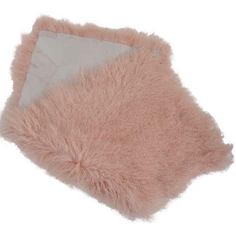 fur rugs mongolian fur rug pink curly hair