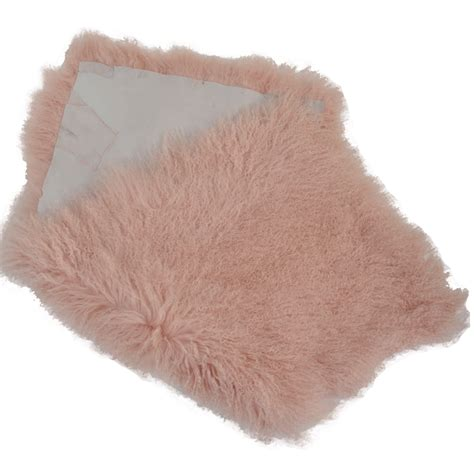 fur rug mongolian fur rug pink curly hair