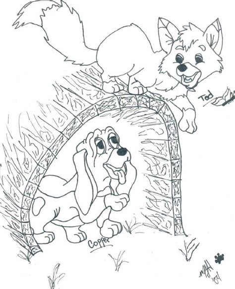 coloring pages for fox and the hound fox and the hound coloring page az coloring pages