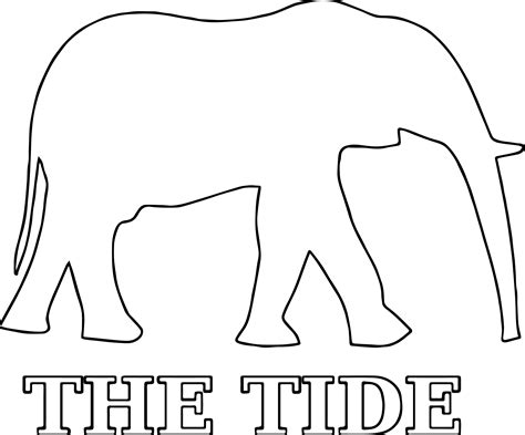 alabama elephant coloring page hi alabama football a elephant outline coloring page
