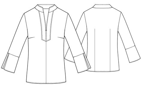 drawing blouse pattern blouse sewing pattern 5423 made to measure sewing