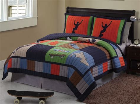 sports bedding full sports teen boy skate cool skateboard twin full queen