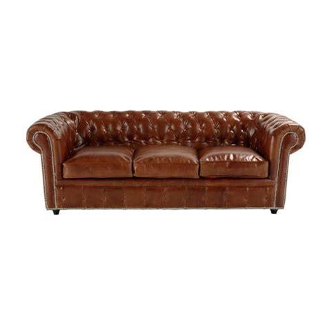 gestepptes ausziehbares sofa 3 sitzer aus leder braun