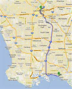 Los Angeles River Bike Path Map by L A River Excursion Bicycle Journey To Long Beach Kcet