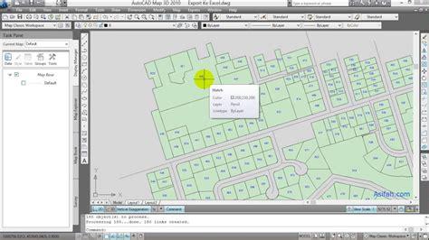 cara layout peta di autocad cara export data koordinat dan luas dari autocad map ke