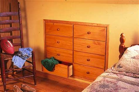 In Wall Dresser by How To Install Knee Wall Storage This House