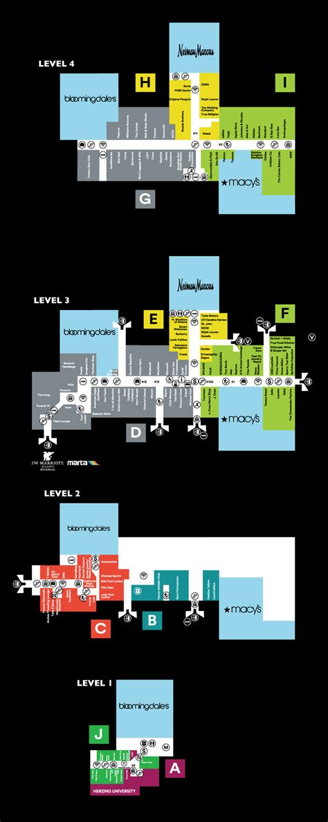 lenox mall map mall map of lenox square 174 a simon mall atlanta ga