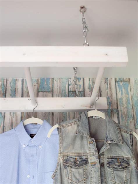 laundry room hanging rack ideas diy laundry drying rack hgtv