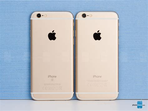 apple iphone 6s vs iphone 6 phonearena