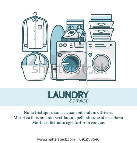 laundry design poster set banners laundry service poster template stock vector