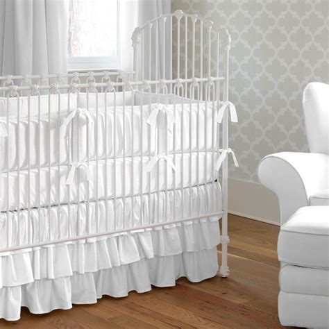 white baby bedding solid white crib bedding carousel designs