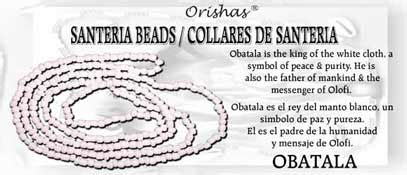 santeria color meanings santeria bead necklace obatala white