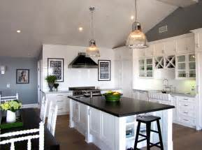 Accent Color For White And Gray Kitchen by Black And White Kitchens Ideas Photos Inspirations