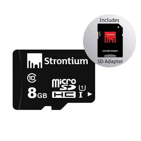 Strontium Microsd Card strontium microsdhc card with adapter 8gb class 10 prices features expansys new zealand