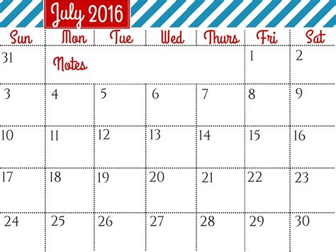 printable calendar usa 2016 july 2016 calendar with holidays printable calendar