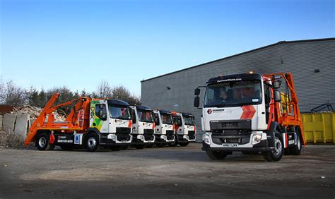 volvo truck fl dunmow waste management takes seven fl skip loaders from