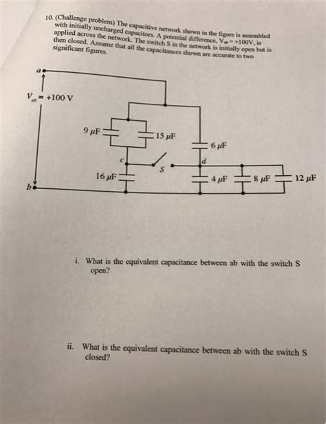 for the capacitor network shown in the figure figure 1 the capacitive network shown in the figure is asse chegg