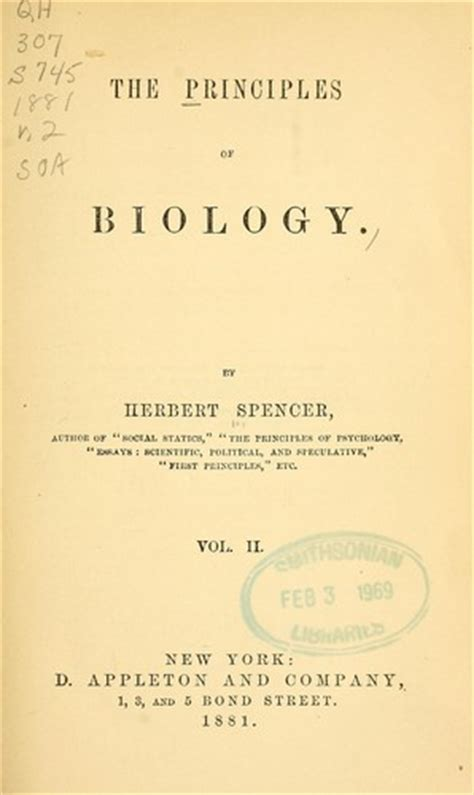 an epitome of the synthetic philosophy classic reprint books the principles of biology 1880 edition open library