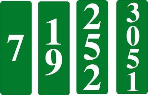 vertical house number signs reflective emergency house numbers vertical reflective