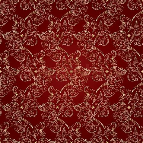 pattern vintage red floral vintage seamless pattern on red background vector