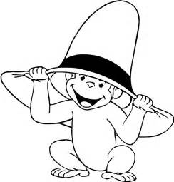 curious george coloring pages the curious george monkey coloring pages