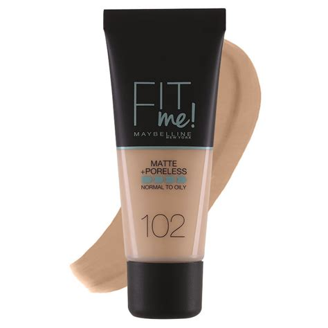 maybelline fit me matte poreless foundation normal to