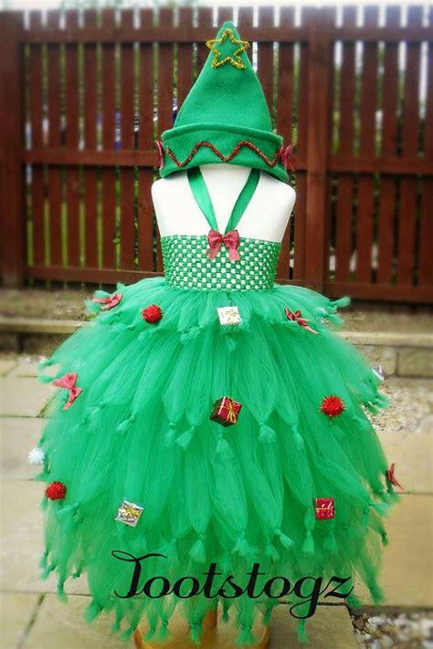 christmas xmas tree girls tutu dress halloween dress
