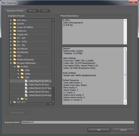 Adobe Premiere Pro Presets | morgan multimedia support adobe premiere pro sequence