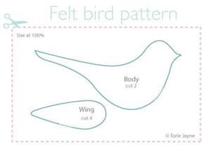felt bird pattern torie jayne