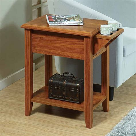end table with cup holder accent chairside sofa side snack table stand tea cup