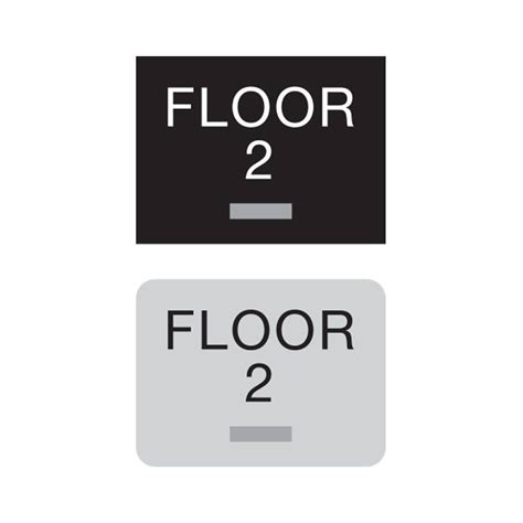compliant ada floor number signs braille floor number sign