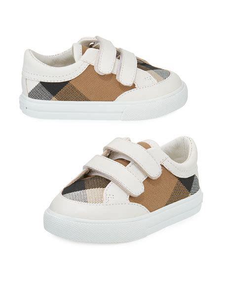 burberry shoes for baby burberry heacham check canvas sneaker white infant