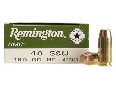 remington umc ammo 40 s w 180 grain metal jacket