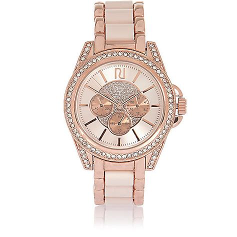 gold tone chunky embellished watches