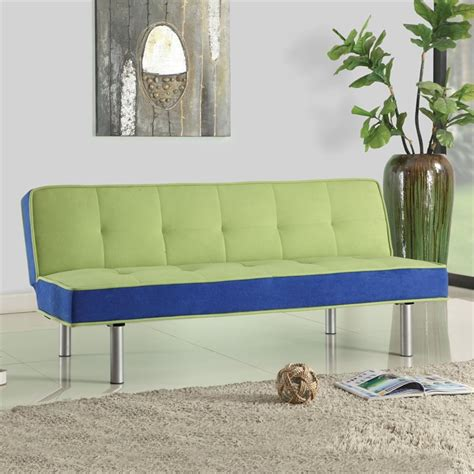 acme billan sectional living room set in green acme furniture hailey flannel futon in green and blue 57135