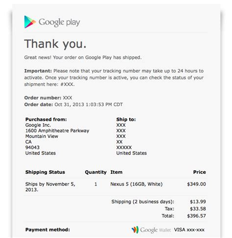 Play Store Order Number Some Nexus 5 Orders Already Begun Shipping