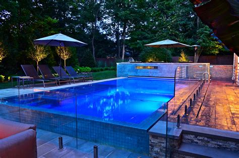 perimeter overflow outdoor pool design ideas nj cipriano landscape design and custom swimming