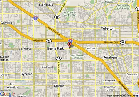 where is anaheim california on the map map of econo lodge anaheim anaheim