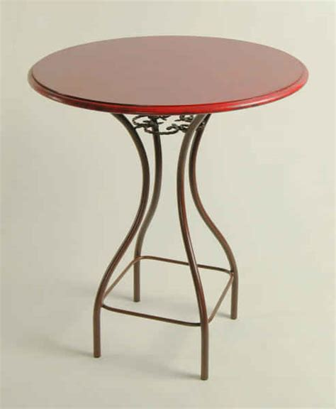 tall bar tables wrought iron