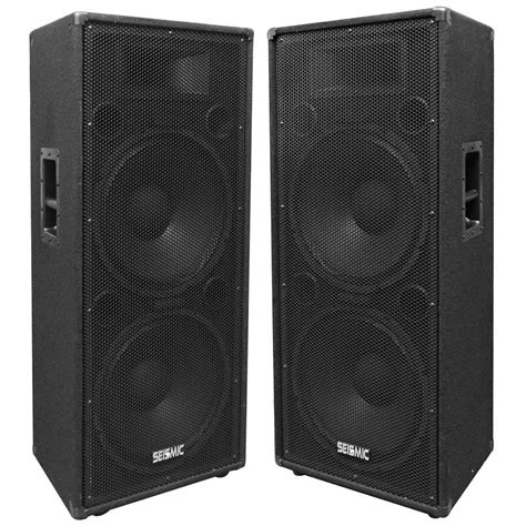 home audio speaker cabinets pair of dual 15 quot pa dj speaker cabinets with titanium