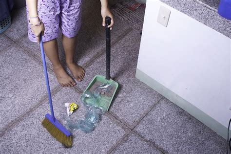 Sweep Floor by How To Sweep A Floor 6 Steps With Pictures Wikihow