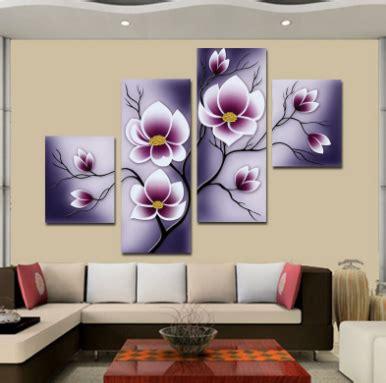 Lukisan Bunga Flower Warna Warni 85x135 Model A Contoh Lukisan Hiasan Dinding Ruang Tamu Minimalis Rumah