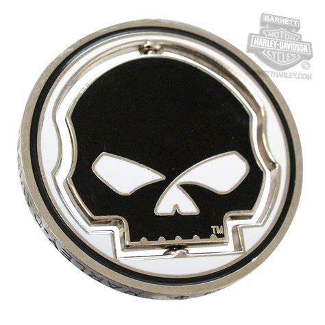 harley davidson number one skull 8003906 harley davidson 174 willie g skull 1 75 quot spinner