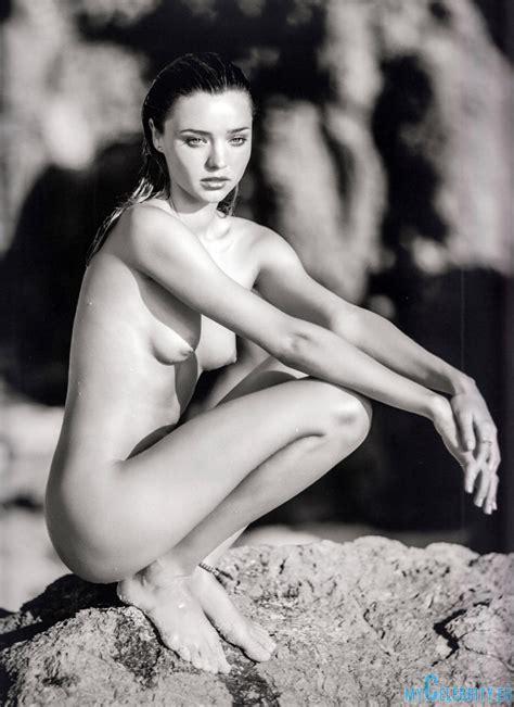 Miranda Kerr Naked Black And White Mycelebrity