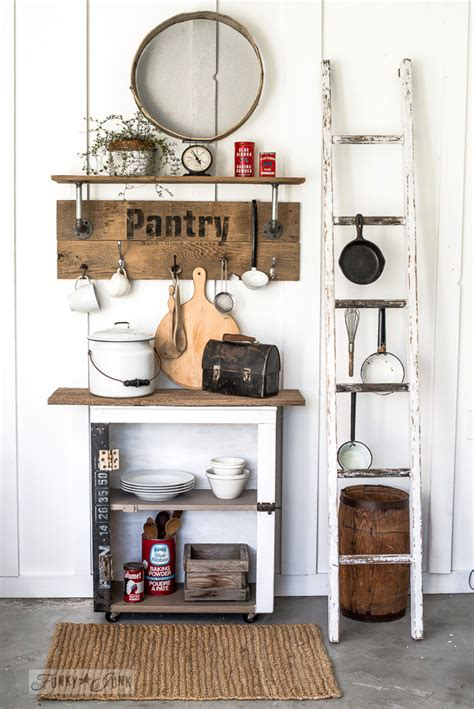 industrial farmhouse reclaimed wood  pipe pantry sign