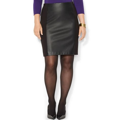 by ralph plus size faux leather stretch