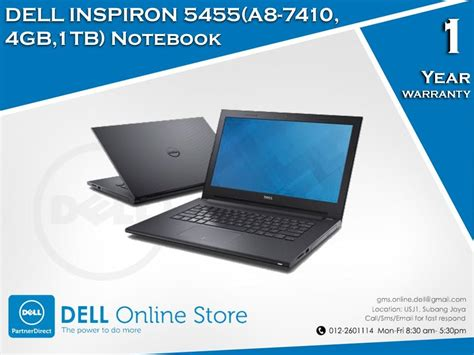 Laptop Dell Inspiron Malaysia dell inspiron 5455 a8 7410 end 2 22 2018 2 15 pm myt