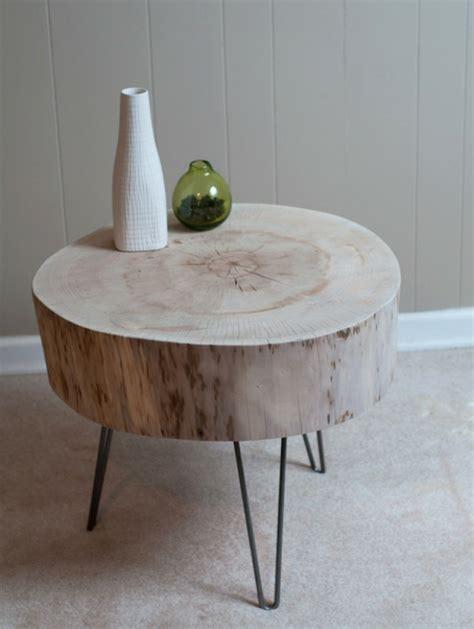 holzstamm tisch tisch aus baumstamm coole m 246 belst 252 cke der natur